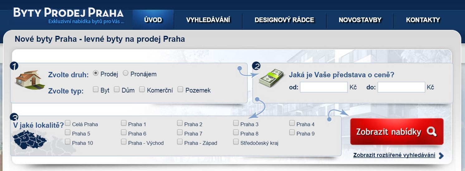 Byty prodej Praha
